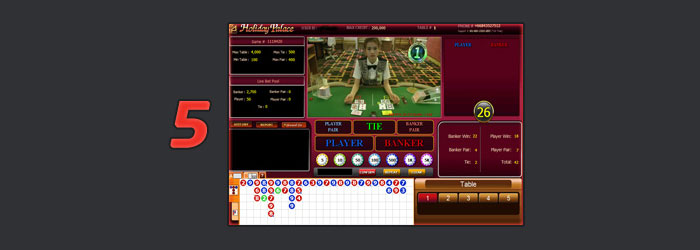 holiday palace baccarat online